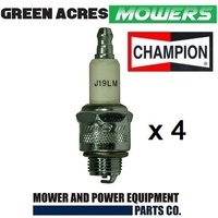 LAWNMOWER SPARK PLUGS CHAMPION  J19LM 4 PAC BRIGGS & STRATTON