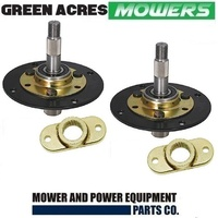 2 X RIDE ON MOWER SPINDLE ASSY AND ADAPTOR FOR MTD MOWERS 717-0906A , 917-0906A , 753-05319