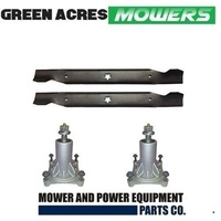 "1 X 38"" BLADE SET & 2 x RIDE ON MOWER SPINDLE ASSY  HUSQVARNA  &  POULAN PRO"
