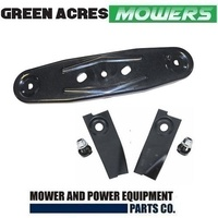 "19"" BLADES & CUSHION CUT CARRIER FIT SELECTED MASPORT MORRISON VIKING LAWNMOWER"