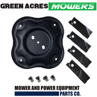"QUAD CUT BLADES AND DISC FITS SELECTED 18"" MASPORT AND MORRISON LAWN MOWERS"