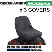 3 x RIDE ON MOWER SEAT COVER SUIT JOHN DEERE MURRAY ROVER VICTA HUSQVARNA COX
