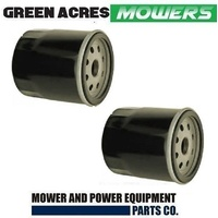 2 X RIDE ON MOWER OIL FILTER FOR 4 - 17 HP KAWASAKI & JOHN DEERE MOTORS AM107423