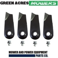 2 X BLADE SETS FITS KMART GARDENERS CHOICE  MOWERS 4 BLADES & BOLTS