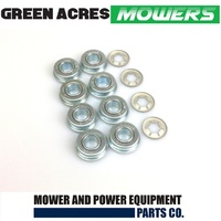 "8 X 1/2""  WHEEL BEARINGS & 4 RETAINING CLIPS FOR  HONDA ROVER MASPORT LAWNMOWER"