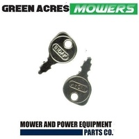 2 X RIDE ON MOWER KEY FITS 95% OF RIDE ON MOWERS , HUSQVARNA , COX , ROVER , MTD
