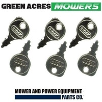 6 X RIDE ON MOWER KEY FITS MOST RIDE ON MOWERS GREENFIELD TORO HUSQVARNA DIXON ETC