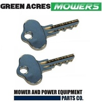 2 X RIDE ON MOWER KEY FITS SELECTED JOHN DEERE MODELS OEM AM131841