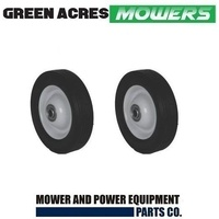 2 X 6 INCH STEEL WHEELS WITH BEARINGS FITS ROVER MASPORT VIKING LAWN MOWERS