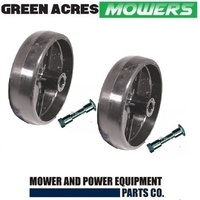 2 X RIDE ON MOWER DECK WHEEL & AXLE BOLT FOR  MTD & CUB CADET MOWERS 734-0973