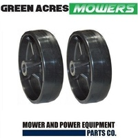 2 X RIDE ON MOWER DECK WHEELS FITS SELECTED MTD & CUB CADET MOWERS 734-0973