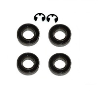 4 X LAWN MOWER BEARING & 2 CLIPS FOR VICTA LAWN MOWER WHEELS  HA25839A