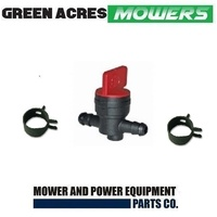 IN-LINE FUEL TAP + HOUSE CLIPS FOR RIDE ON MOWERS & LAWN MOWERS FITS BRIGGS , HONDA MOTORS