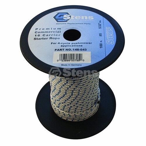 STARTER ROPE 100 FOOT ROLL 4.mm CORD FOR SELECTED LAWN MOWERS