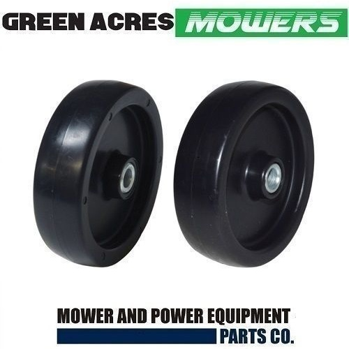 2 X DECK WHEELS TO FIT SELECTED  MTD CUB CADET MOWERS  734-3000