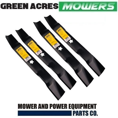 "4 X RIDE ON MOWER 3 in 1 MULCHING  BLADES FOR HUSQVARNA 38"" CUT  532 13 41-48"