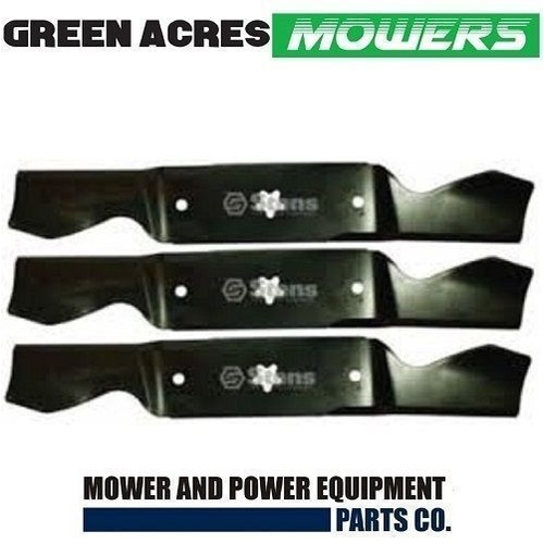 "3 x 54"" CUT BLADES FOR HUSQVARNA CRAFTSMAN & POULAN RIDE ON MOWERS 532 18 72 56"