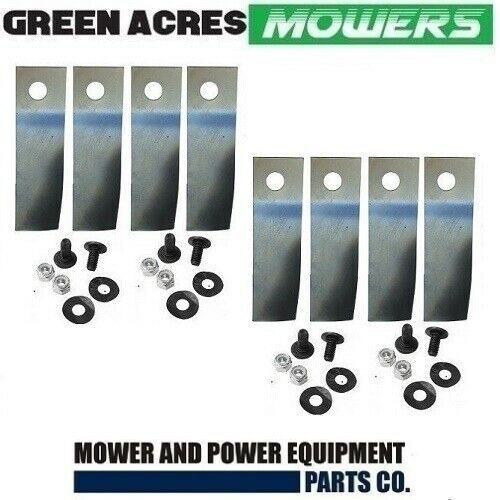 "4 X PAIRS 21"" HONDA BLADES LAWN MOWERS WITH ROUND DISC 8 X BLADES BOLTS WASHERS 06720-VJ9-600"
