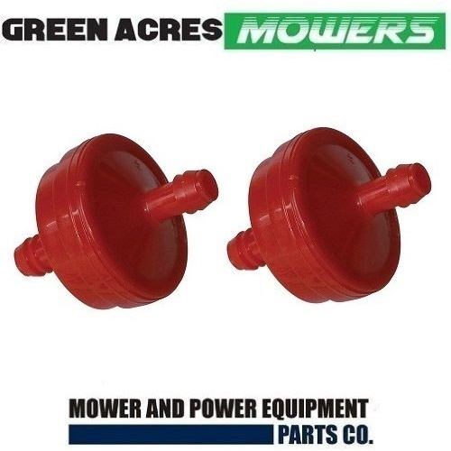 2 X FUEL FILTER FOR BRIGGS AND STRATTON MOTORS , JOHN DEERE  298090