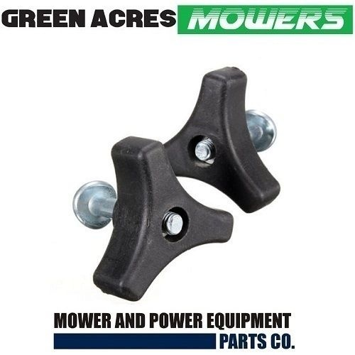 2 x GENUINE HANDLE KNOBS & BOLTS FOR SANLI POWER SERIES  LAWN MOWERS